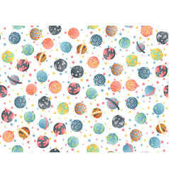 cute cartoon astronomy seamless pattern vector image