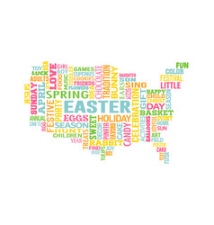 easter in the united states of america word map vector image