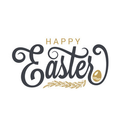 easter vintage lettering on white background vector image vector image