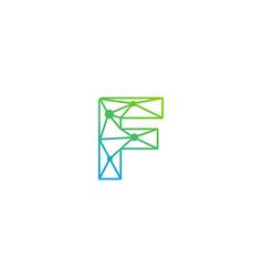 F letter network logo icon design vector