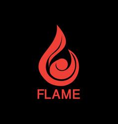 fire tech business logo vector image