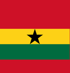 Flag in colors of ghana image vector
