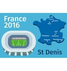 Flat Stadium vector image