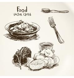 Food sketch vector