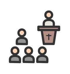 Funeral sermon vector