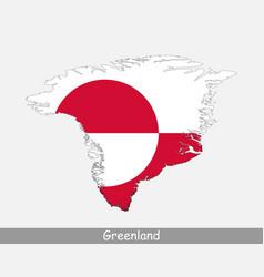 Greenland map flag vector