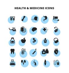 Health medicine icons set vector