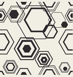 hexagon contour compozition vector image
