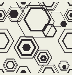 Hexagon contour compozition vector