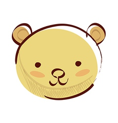Icon bear vector