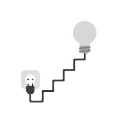icon concept of grey light bulb with stairs cable vector image