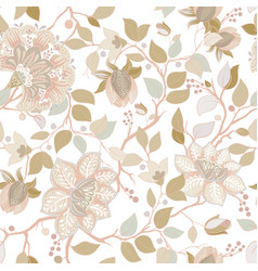 light floral pattern wallpaper with big vector image