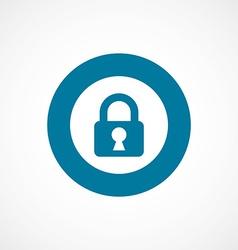 Lock bold blue border circle icon vector