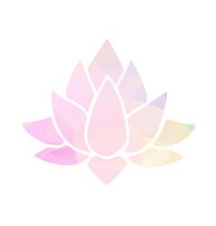 lotus with polygonal vector image