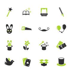 magic icon set vector image