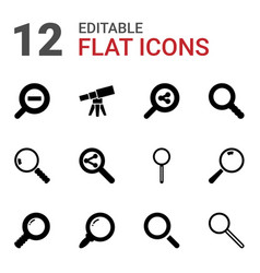 magnification icons vector image