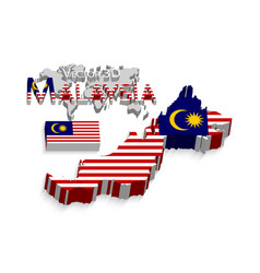 malaysia 3d vector image