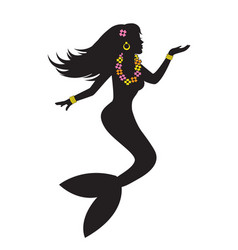 mermaid beautiful woman with fish tail vector image