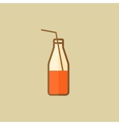 Milk Drink Flat Icon vector