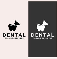 Modern and playful dental dog logo vector