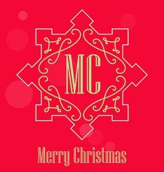 Modern Christmas festive Card monograms style vector image