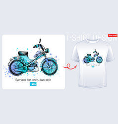 Moto bike scooter t-shirt motorcycle print vector