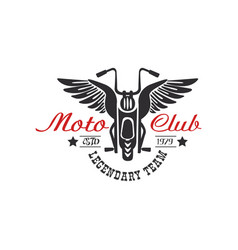 Moto club logo legendary team estd 1979 design vector