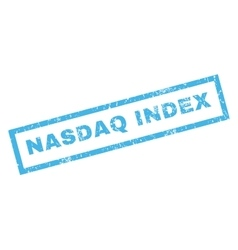 Nasdaq Index Rubber Stamp vector