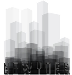 new york city silhouette vector image