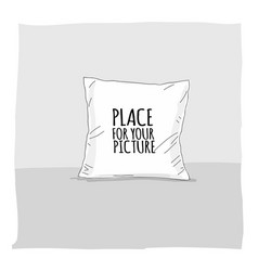 pillow mockup with place for your design vector image
