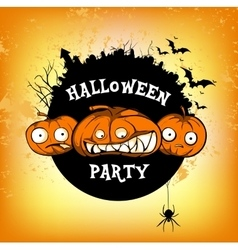 poster halloven party vector image