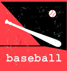 poster with baseball objects vector image