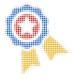quality halftone icon vector image