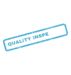 Quality Inspector Rubber Stamp vector