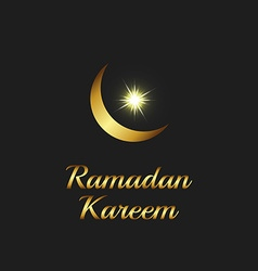 Ramadan Kareem background islam symbol golden moon vector