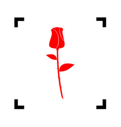 rose sign red icon inside vector image