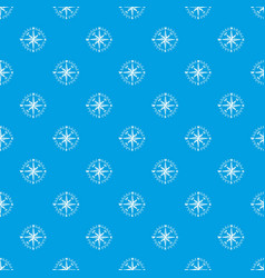 Rose wind pattern seamless blue vector