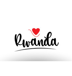 rwanda country text typography logo icon design vector image