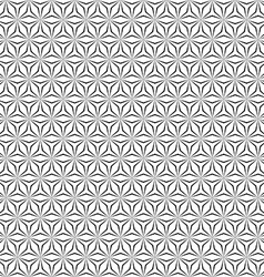 Seamless monochrome hexagonal pattern vector