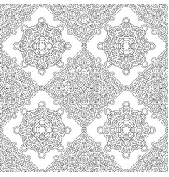 Seamless pattern of black and white mandala vector