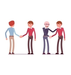 Set of male characters in a casual wear vector image