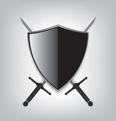 Shield and sword vector