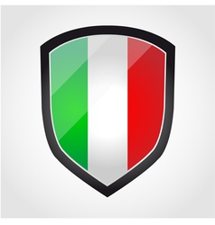 Shield with flag inside - Italy vector
