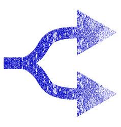 Split arrows right grunge textured icon vector