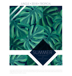 summer party music poster template vector image