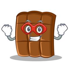 Super hero chocolate character cartoon style vector