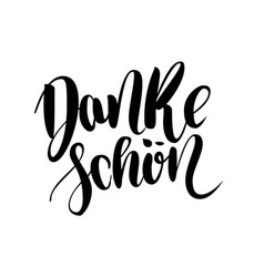 thank you danke schoen german language balck vector image