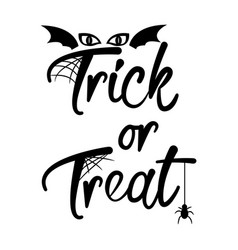 trick or treat halloween text tshirt vector image