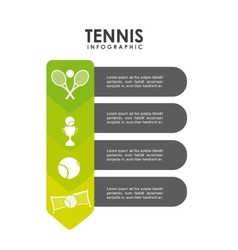 trophy ball and racket icon Tennis design vector image