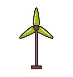 Turbine wind energy icon vector